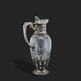 Resim Fransız gümüş kaplama eşsiz iş karaf